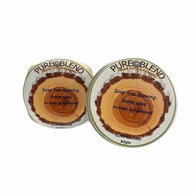 SOAP FREE FOAMING SHAVE CAKE 80gm Tin
